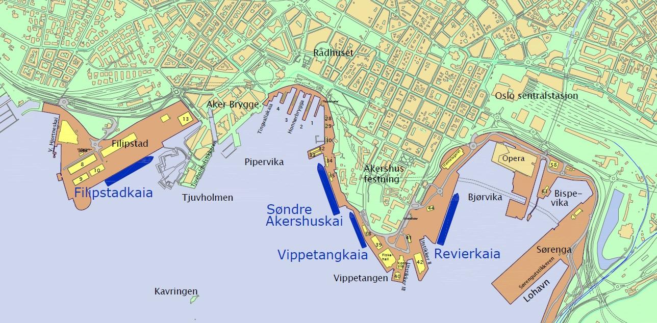 oslo havn kart Cruise   Oslo Havn oslo havn kart