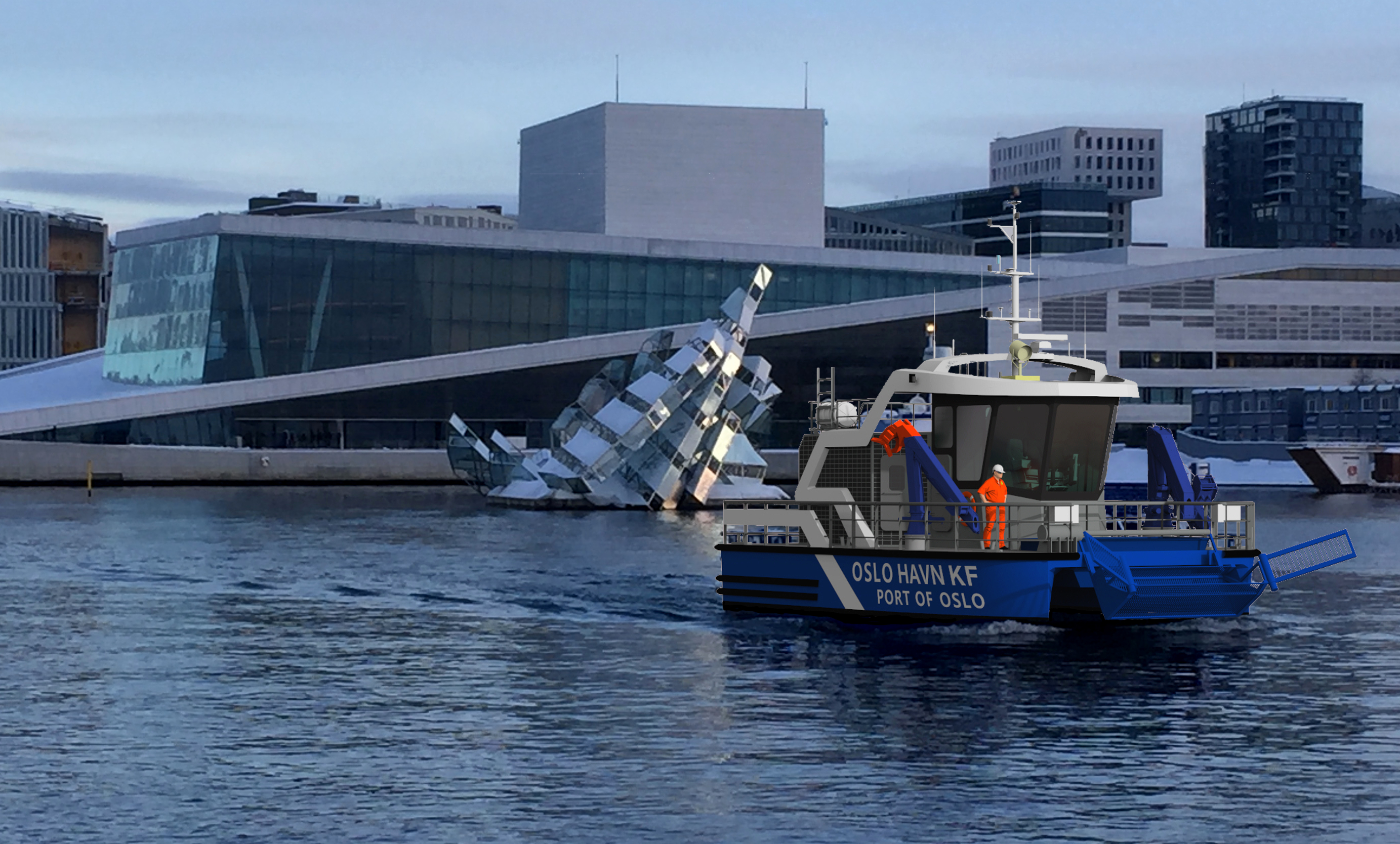 Port of Oslo's first zero emission working boat
